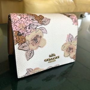 Coach White Floral Wallet